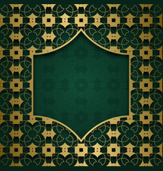 traditional ornamental background with frame vector image