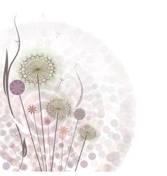 Gentle floral background vector image vector image