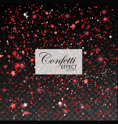 red glittering star dust vector image vector image
