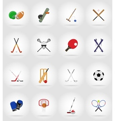sport flat icons 17 vector image vector image