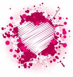 Grunge valentine's day vector