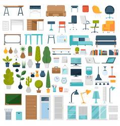 home and office interior elements vector image