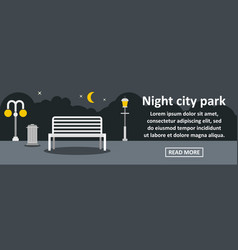 night city park banner horizontal concept vector image