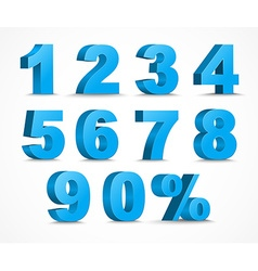 Numbers D vector image
