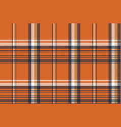 Orange check plaid seamless pattern vector