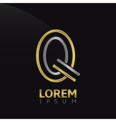 Q letter logo vector image vector image