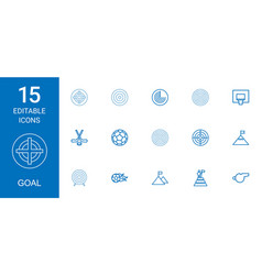 15 goal icons vector