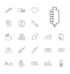 22 medical icons vector