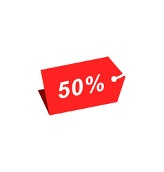 50 discount hang tag template vector image