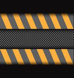 Abstract circle mesh metallic on grey yellow vector