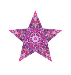 Abstract isolated tiled mosaic pentagram star vector