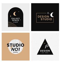 Abstract logo design galaxy template set vector