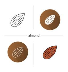 almond icon vector image