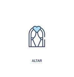Altar concept 2 colored icon simple line element vector