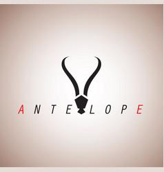 Antelope logo ideas design vector