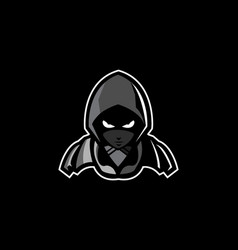 Assasin mascot esport logo vector