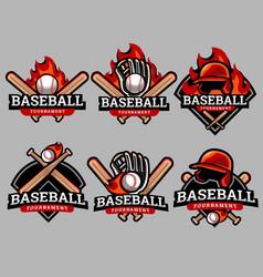 Baseball logo and badge set image vector