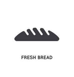 Bread bakery glyph icon for web and mobile vector