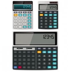 Calculators vector