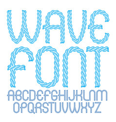 capital rounded alphabet letters collection made vector image