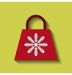 christmas shopping bag icon vector image