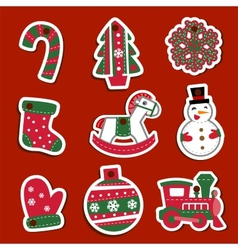 Christmas tags or stickers for gifts vector image