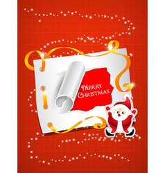 Christmas with sticker and santa vector