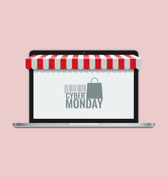 cyber monday or black friday and online store vector image