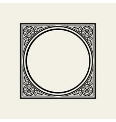 Elegant frame in Victorian style The circle vector