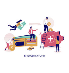 Emergency fund flat style design vector