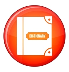 English dictionary icon flat style vector