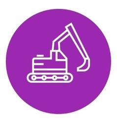 Excavator line icon vector