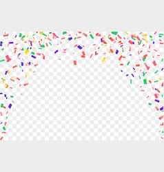 Falling confetti isolated white transparent vector