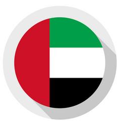Flag united arab emirates round shape icon vector