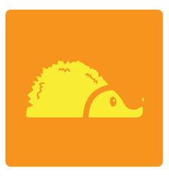 Flat color porcupine icon vector