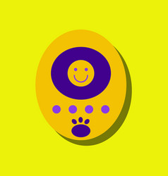 Flat icon design tamagotchi pets pocket game in vector