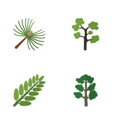 flat icon ecology set of forest garden rosemary vector image
