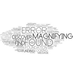 Found word cloud concept vector