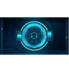 futuristic gui aim system vector image