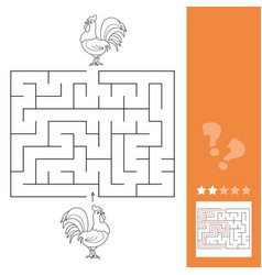 game chicken maze find way to each other vector image