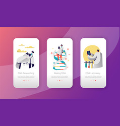 genome dna laboratory character mobile app vector image
