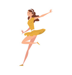 girl dancing wearing short dress young woman in vector image