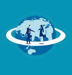 Global business businessperson greet concept vector