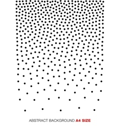 Gradient halftone dots background a4 size vector