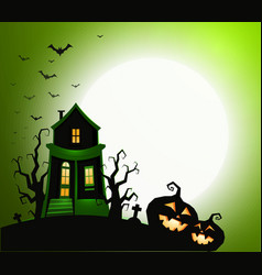 halloween holiday banner night party invitation vector image