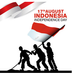 Happy independence day indonesia template design vector