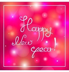Happy new year congratulation vector