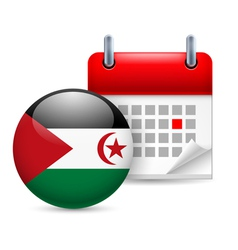 Icon of National Day in Sahrawi Arab Democratic vector image
