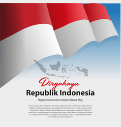 Indonesian independent day vector