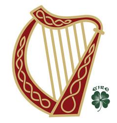 Ireland harp musical instrument in vintage retro vector